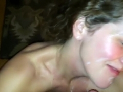 Excited Cutie Likes Facual Cumshots