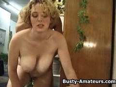Busty babe Samantha getting fucked