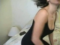 Horny chick plays with her tits
