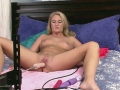 Teen blonde amateur Payton Simmons gets fuck machined