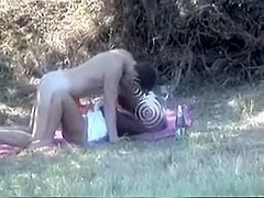 Sexually Excited pair had sex outdoors and I taped it for u
