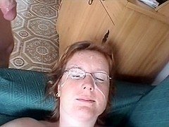 Hot oral session with my blonde wife