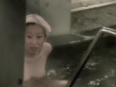 Asian milf in nothing but towel on her head in the pool nri103 00