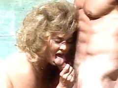 Making the clerk lick hairy pussy