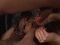 double penetration and double facial on a hawt blond