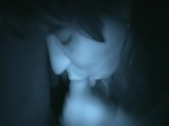 Nightvision oral-stimulation from juvenile sweetheart