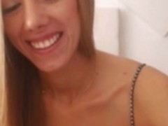 hot blonde play with fingers and sextoys