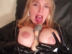 masturbating in stockings and perverted boots part2