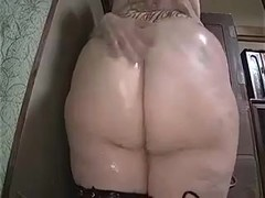 Blonde BBW facesits a japaneese guy and fucks him