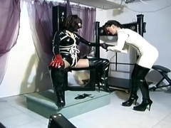 Sexy Latex Bondage With Sluts