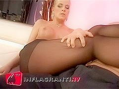 Wunderbar die Steffi fickt in Stockings - Foot Fetish