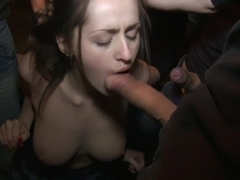 Russian Cutie with Braces gets Caught Trespassing and Gangbanged