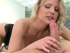 All natural blonde Samantha Jolie enjoys to feel this fat cock with every point of her wet holes