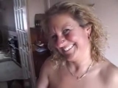 Me and my buddies having fun with a mature blonde housewife