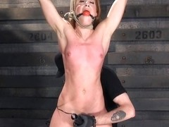 Cheyenne Jewel & The Pope in Fiery Red Head In Bondage, Tormented And Cumming Like A Whore - HogTi.