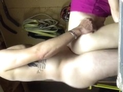 Squirting wife pounded doggy style