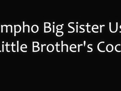 Nympho big sister uses little brothers cock