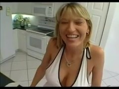 Busty MILF has fun with a big cock