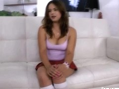 Russian teen has anal on the casting couch