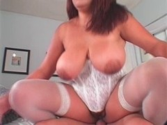 big beautiful woman Nikki Santana drilled on sofa