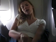 Excellent 10,000 feets masturbation hawt golden-haired mother i'd like to fuck in airplane,!holy f.
