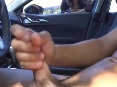 Office girl watches as dude masturbate his dick