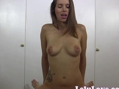 She tosses the condom and rides to creampie then more!