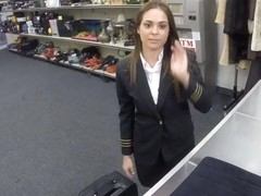 Pawn dude banged this lovely latina stewardess in the toilet