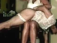 Sissy spanked in his pants by mom