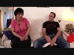 busty older Mom pleased by her Boy