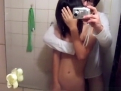 Very cute asian girl fucks her bf in various positions and moans