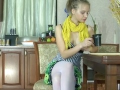 LacyNylons Clip: Irene