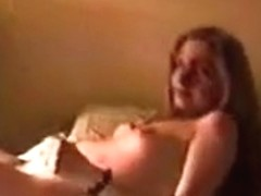 Brunette Hair gf squirms and cums