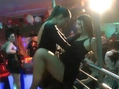 Shameless sluts dance erotically