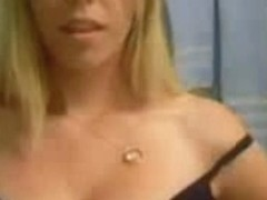 Stunning blonde webcam model stripping for the viewers