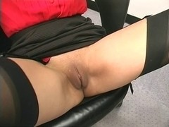 Giant sex toy copulates sexy mature woman unfathomable