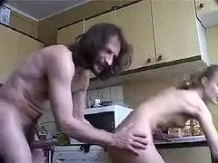 Skinny blonde wife fucked hard in the morning on cam
