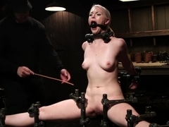 Young, Blond, All Natural Pain Slut gets a Full Dose of Brutality!!