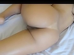 Round tanned booty for spanking