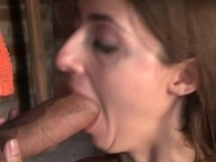 Leila in amateur girl kisses a big dick while on a vacation