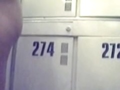 Hidden cam records naked European babes in a changing room.