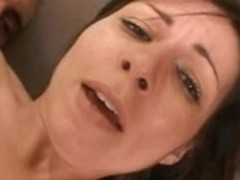 Dark Brown in heat acquires her cookie pounded