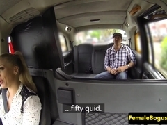 female cabbie facefucked outdoors after pounding