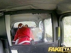FakeTaxi: Bad santa unloads his sack
