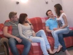 Edward & Brian & Foxy Di & Kristina in Calling A Friend For A Sex Party - YoungSexParties