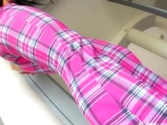Lara loses the pink plaid to fuck herself thoroughly