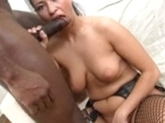 Babe a-hole-gangbanged by a dark pecker