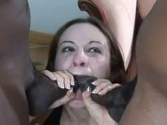 Nast cutie eagerly fucking 2 darksome knobs