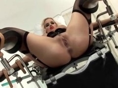 Fastened and acquires her ass treated well