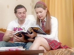 Pigtailed School Babe Mischa Yelps During Hot Anal Sex